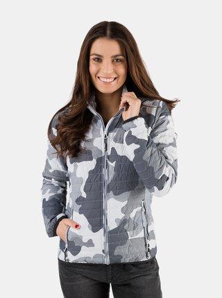 Světle šedá dámská prošívaná bunda SAM 73