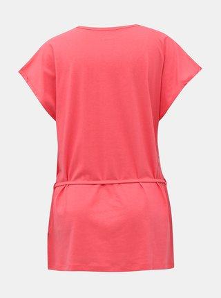 Růžové dámské tričko se zavazováním SAM 73