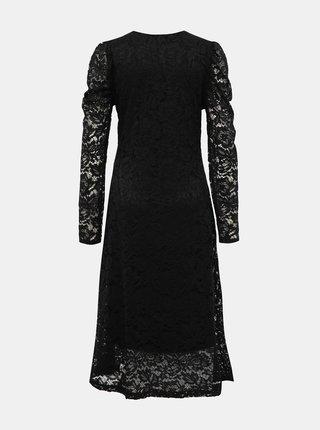Čierne krajkové midišaty Haily´s Silvie