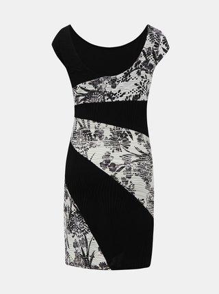 Bílo-černé vzorované šaty Desigual Detroit