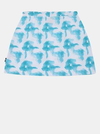 Bielo-tyrkysová dievčenská vzorovaná sukňa SAM 73