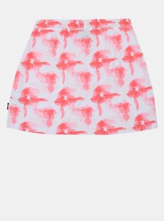 Bielo-ružová dievčenská vzorovaná sukňa SAM 73