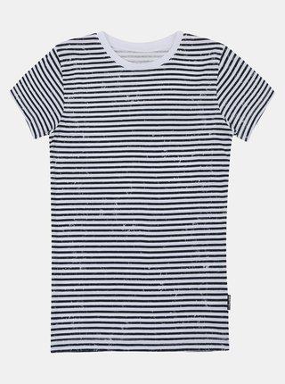 Černo-bílé dětské pruhované tričko SAM 73