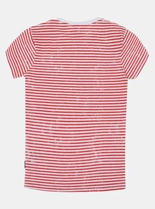 Červeno-bílé dětské pruhované tričko SAM 73