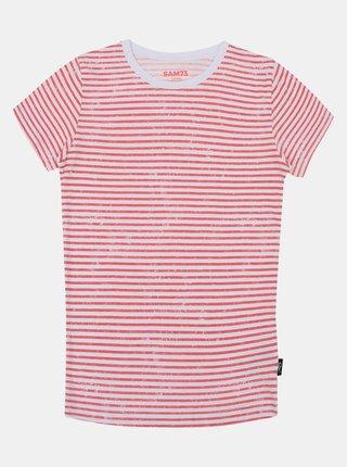 Růžovo-bílé holčičí pruhované tričko SAM 73