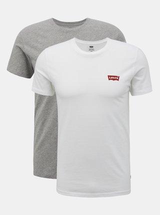 Sada dvou pánských basic triček v bílé a šedé barvě Levi's®