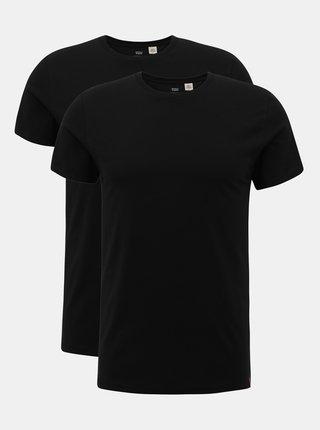 Sada dvoch čiernych pánskych basic tričiek Levi's®