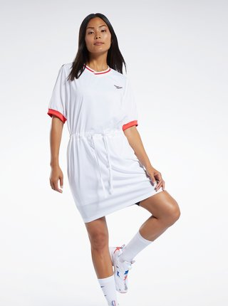 Biele šaty s výšivkou Reebok
