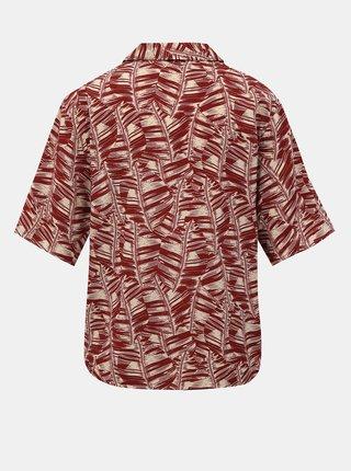 Červená dámská vzorovaná košile Alcott