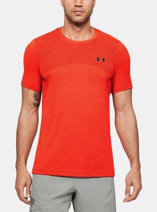 Červené pánske tričko Seamless Under Armour