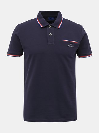 Tmavě modré pánské polo tričko GANT