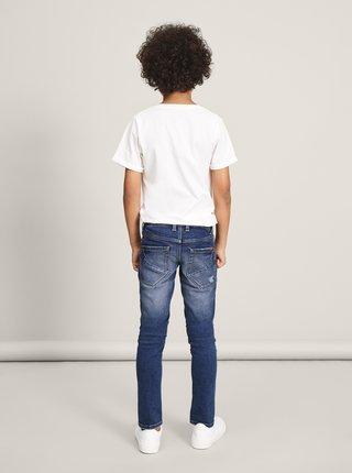 Tmavě modré klučičí slim fit džíny name it Silas