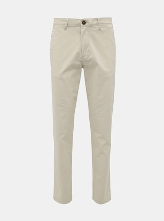 Krémové chino kalhoty Jack & Jones Marco