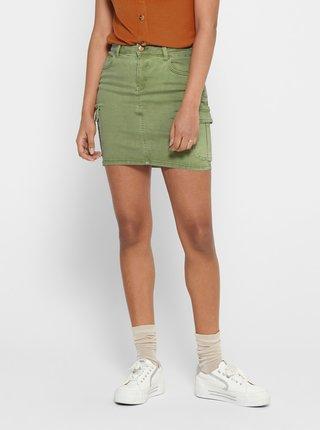 Zelená džínová sukně ONLY Missouri