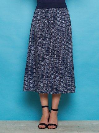 Tmavomodrá vzorovaná maxi sukňa Tranquillo