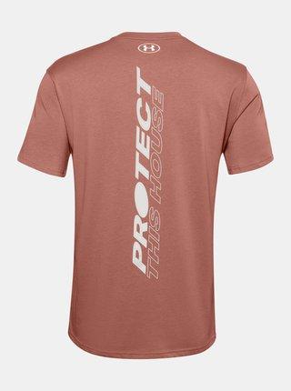 Hnědé pánské tričko PTH Back Under Armour