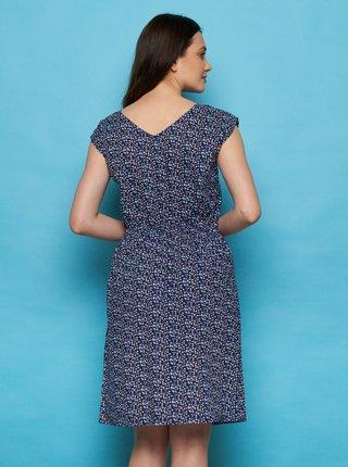 Tmavomodré vzorované šaty Tranquillo Tea
