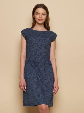 Tmavě modré vzorované šaty Tranquillo Tea