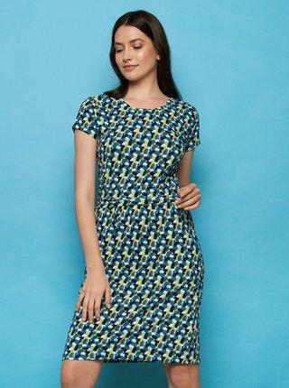 Tmavě modré vzorované šaty Tranquillo Loretta