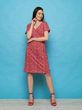 Červené květované šaty Tranquillo Darou