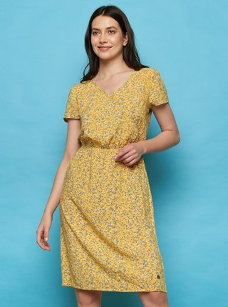 Žlté kvetované šaty Tranquillo Madiba