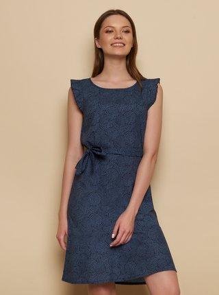 Tmavomodré vzorované šaty Tranquillo Madje