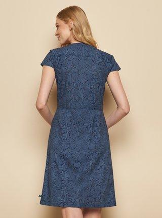 Tmavomodré vzorované šaty Tranquillo Zolile