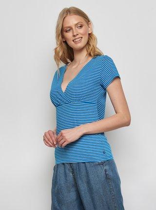 Modré pruhované tričko Tranquillo Aluna