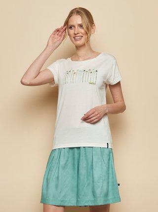 Bílé tričko s potiskem Tranquillo Kunto