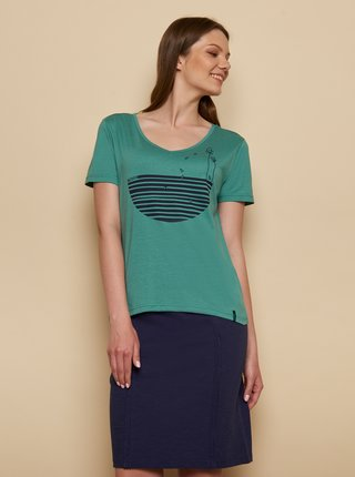 Zelené tričko s potlačou Tranquillo Fajola
