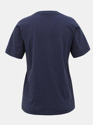 Tmavomodré dámske tričko s flitrami Pepe Jeans Charis