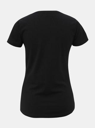 Černé dámské tričko s ozdobnými kamínky Pepe Jeans Beatrice