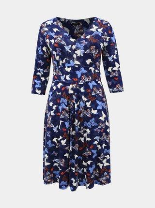 Tmavě modré vzorované šaty M&Co