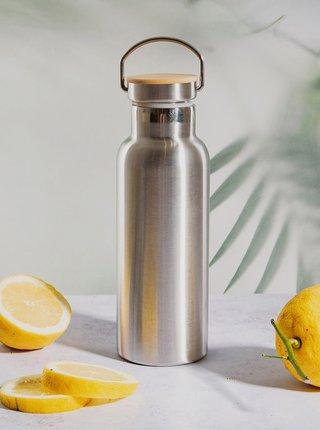 Nerezová fľaša na vodu v striebornej farbe Sass & Belle