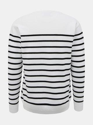 Biely pánsky pruhovaný sveter Makia Coastal