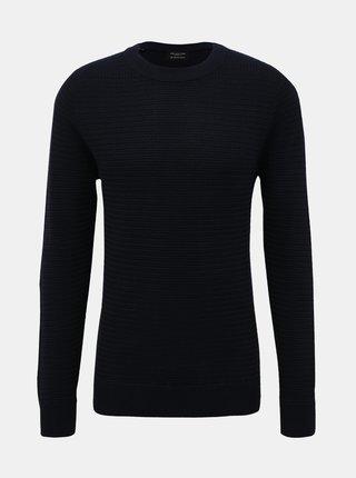 Tmavomodrý basic sveter Selected Homme Tommy