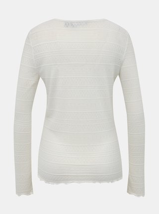 Bílé vzorované tričko VERO MODA Hazel