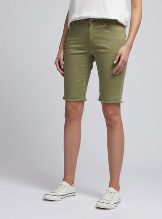 Zelené džínové kraťasy Dorothy Perkins