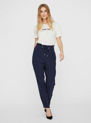 Tmavě modré kalhoty VERO MODA Jenni