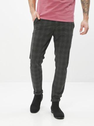 Šedé kostkované slim fit kalhoty Jack & Jones Marco