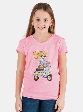Růžové holčičí tričko s potiskem SAM 73 Aldiaro