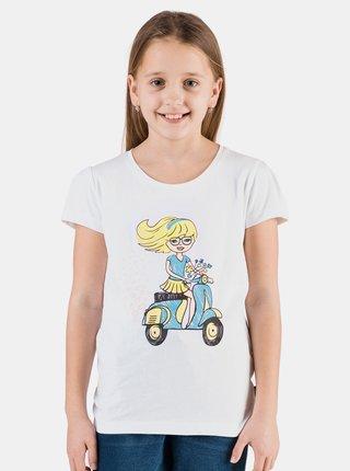 Biele dievčenské tričko s potlačou SAM 73 Aldiaro