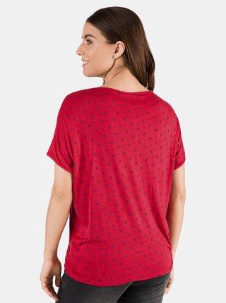 Červené dámske vzorované tričko SAM 73