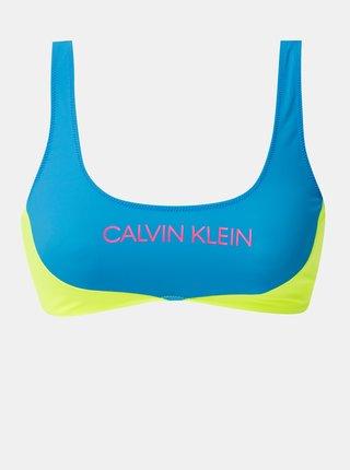 Žlto-modrý horný diel plaviek Calvin Klein Underwear