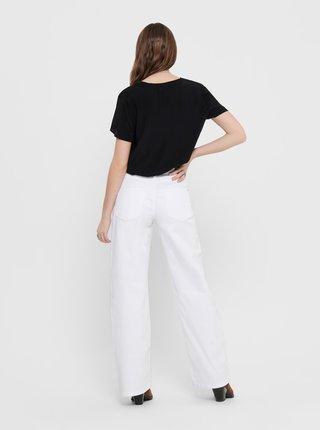 Bílé straight fit džíny Jacqueline de Yong Anica