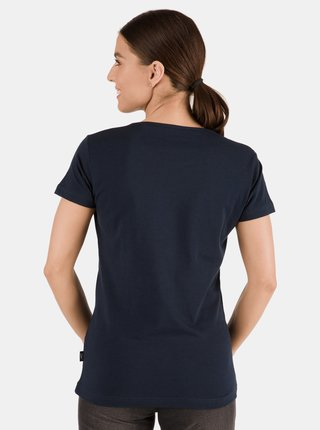 Tmavě modré dámské tričko s potiskem SAM 73 Meria