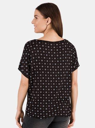 Černé dámské vzorované tričko SAM 73