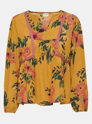 Žltá kvetovaná voľná blúzka Jacqueline de Yong Solis