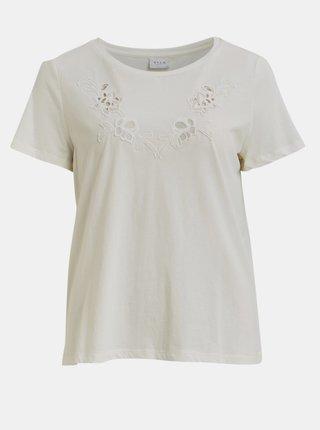 Bílé tričko VILA Drano