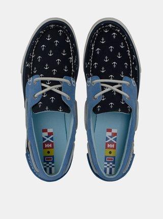 Tmavě modré dámské tenisky se semišovými detaily HELLY HANSEN Sandhaven